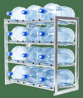 Стеллаж для хранения бутылей воды 19 литвро