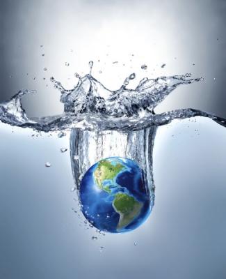 Планета Земля в воде