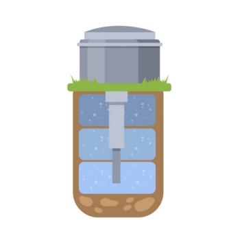 Скважина с артехзианской питьевой водой