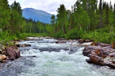Вода в горной реке