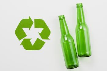 Стеклянные бутылки, повторная переработка