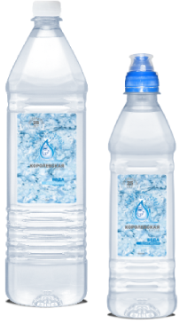 Королевская вода питьевая 1,5 л и 0,5 л в ПЭТ упаковке